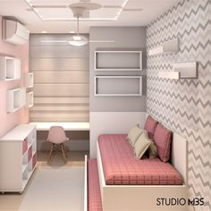 New small girls bedroom with tv Ideas Small Girls Bedrooms, Small Room Bedroom, Home Decor Bedroom, Teen Bedroom Designs, Cute Room Decor, Stylish Bedroom, Fashion Room, Dream Rooms, Girl Room