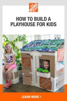 Learn how to have fun at home together with online Kids Workshops from The Home . - Learn how to have fun at home together with online Kids Workshops from The Home Depot. Toddler Crafts, Preschool Crafts, Diy Crafts For Kids, Projects For Kids, Fun Crafts, Toddler Play, Baby Play, Craft Ideas, Cardboard Houses For Kids