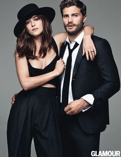 Jamie Dornan and Dakota Johnson - aka Christian Grey and Anastasia Steele - star on GLAMOUR UK's Fifty Shades of Grey cover, and we think you'll agree: they both look smokin' hot. Find out more about our 50 Shades cover stars on GLAMOUR. Fifty Shades Of Darker, Fifty Shades Movie, Fifty Shades Trilogy, Dakota Johnson, Jamie Johnson, Jamie Dornan, Mr Grey, Gray, Cover Shoot