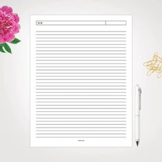 Limited Time Free Printable Lovelies: Printable Lined Notes Page Party Printables, Free Printables, Arc Notebook, Printable Designs, Boutiques, Letterpress, Custom Design, Notes, Invitations