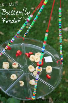 Kid Made Butterfly Feeder: A butterfly feeder is easy to make and a great way for kids to learn about nature.