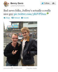 ISN'T A HUGE JERK.   18 Photos Of King Joffrey Being Totally Un-Joffrey-Like
