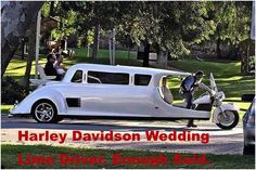 For the lovers of Harley Davidson's, this is for you! Harley Davidson Wedding limo with your own driver! For the best of the best in CT wedding limo service check out www.shadyslimo.com