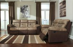 McLaurin Contemporary Mocha Polyester Living Room Set