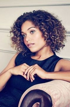 Image result for women's short curly haircut