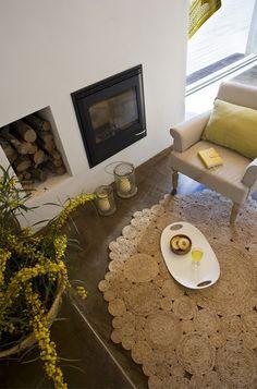 ALFOMBRA DE YUTE | Decorar tu casa es facilisimo.com