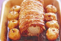 Roast loin of pork with crispy crackling and roasted apples main image