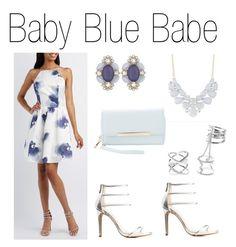 """""""Baby Blue Babe"""" by charlotterusse ❤ liked on Polyvore featuring Charlotte Russe, Anne Michelle, stylesteal and CharlotteLook"""