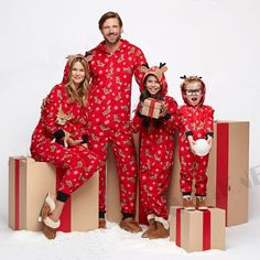 90ddd9a28c88f Family Matching Christmas Pajamas Set Xmas Women Man Baby Kids Hooded  Sleepwear #Unbranded #PajamaSets