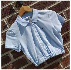 Polo Shirt Outfits, Polo Outfit, Polo Shirt Women, Crop Top Outfits, Cute Casual Outfits, Polo Shirt Style, Girls Fashion Clothes, Teen Fashion Outfits, Look Fashion