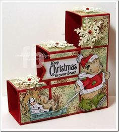 Keep Christmas In Your Heart Block Card created by Frances Byrne using Christmas Everyday stamp set from Penny Black