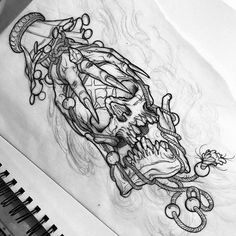 I genuinely fancy the colorings, lines, and depth. This is certainly a brilliant tattoo design if you want a Skull Tattoo Flowers, Skull Rose Tattoos, Body Art Tattoos, Skeleton Tattoos, Sleeve Tattoos, Cool Tattoos, Tattoo Design Drawings, Skull Tattoo Design, Tattoo Sketches