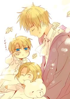 by cubic - Arthur with little Alfred and Matthew...and looks like Mattie's a total sleepyhead :)