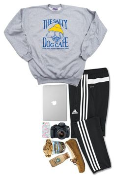Editing a video by sperry-topsider ❤ liked on Polyvore featuring adidas, Eos and UGG Australia