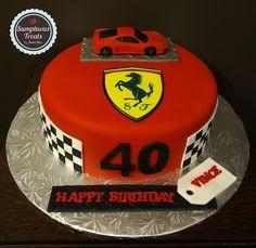 Ferrari 40th Birthday Cake ~ Custom-Made-To-Order Cakes & Desserts  Edible Art ~ www.sumptuoustreats.com