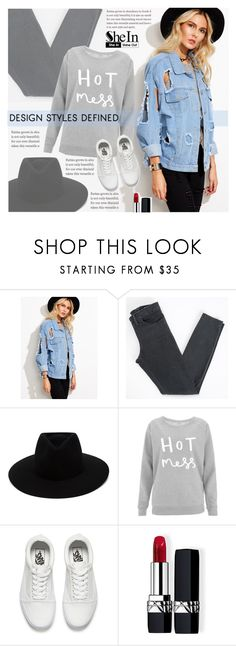 """""""Blue jacket"""" by pankh ❤ liked on Polyvore featuring Acne Studios, rag & bone, Vans and Christian Dior"""