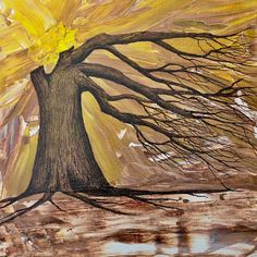 """Hey I've reduced the price of this lovely ORIGINAL CANVAS PAINTING... ready to hang """"I Embrace My Roots""""... expressing my view that our roots are connected to who we become. www.etsy.com/listing/524779852/i-embrace-my-roots-original-canvas"""