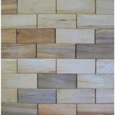 3 in. x 8 in. Prefinished Maple Wooden Wall Tile-