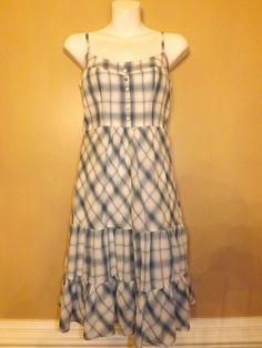 American Eagle Blue White Summer Dress Size 4 , Apparel & Accessories :: Clothing :: Dresses :: Day Dresses :: Bullszi.com