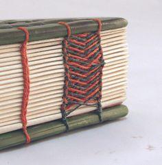 10 Needle Coptic Celtic binding  Tree of life rebound bind detail