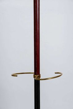 For Sale on - stitched leather coat stand designed by Jacques Adnet. Coat Stands, Stitching Leather, Stand Design, Sale On, 1950s, Hangers, Coat Hooks, Clothes Racks, Booth Design