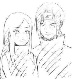 Uchiha Izumi and Itachi (they'd definitely make a good couple if they lived *feels*) Itachi Uchiha, Naruto Shippuden, Hinata, Itachi And Izumi, Naruto E Boruto, Shikamaru, Gaara, Kakashi, Anime Naruto