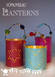 TIN CAN LANTERNS are perfect for Summer evenings in the garden or Winter evenings snug inside. This homemade lantern crafts is an easy recycled craft for kids and they make fabulous gifts too.
