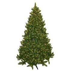 General Foam Plastics 7.5' Evergreen Fir Artificial Christmas Tree with 700 Clear Lights