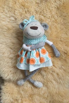 RESERVED FOR CHRIS Sock Monkey Dress for the large original