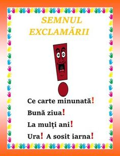Semnul exclamării Romanian Language, Little Einsteins, Teacher Supplies, Preschool Learning, Geography, Projects To Try, Classroom, Activities, Symbols