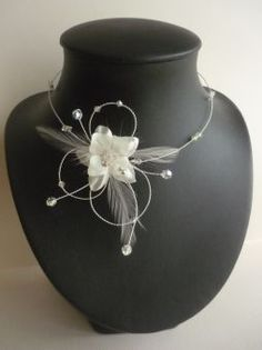 Collier mariage, bijoux mariage, bijou de mariée, collier mariée, collier dentelle, collier perles, www.lolaframboise.com