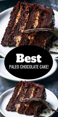 Fudgey paleo chocolate cake made without flour! This low calorie chocolate cake is decadent and frosted with 2 ingredient chocolate frosting. You have to try this paleo gluten free cake for birthdays, celebrations, and dessert time! Chocolate Paleo, Low Calorie Chocolate, Chocolate Recipes, Chocolate Frosting, Cake Chocolate, Low Calorie Cake, Healthy Chocolate Cakes, Low Calorie Baking, Food Cakes