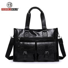 Brand Men Leather Briefcase High Quality Business Man Handbag Vintage Men Messenger Laptop Bag Casual Men Shoulder Bag 2 Colors ** Clicking on the VISIT button will lead you to find similar product Briefcase For Men, Leather Briefcase, Business Briefcase, Business Laptop, Business Men, Business Casual, Handbags For Men, Vintage Handbags, Bags Travel