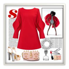 """red dress"" by metka-belina on Polyvore featuring Giuseppe Zanotti, Hourglass Cosmetics, Natura Bissé, LORAC, MAC Cosmetics and Dolce&Gabbana"