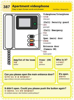 387 Apartment Videophone Learn Korean Hangul