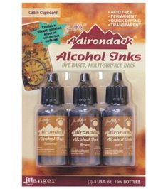Ranger Adirondack Alcohol Ink 1/2-Ounce 3/Pkg, Cabin Cupb…