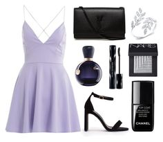 """""""Untitled #44"""" by rodoulla97 on Polyvore featuring AX Paris, Nly Shoes, Yves Saint Laurent, le top, Lacoste, Shiseido and NARS Cosmetics"""