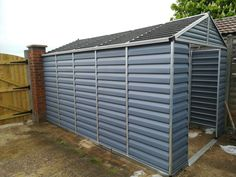 Palram 8 x 12 ft Skylight Plastic Apex Shed Grey Plastic Sheds, Roof Shapes, Shed Organization, Polycarbonate Panels, Door Latch, Storage Sheds, Galvanized Steel