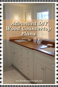 Wood countertops offer a warmth & beauty unlike other countertop materials. Before you buy, learn pros and cons of wood and butcher block countertops. #woodencountertops Refinish Countertops, Wooden Countertops, Butcher Block Countertops, Countertop Materials, Kitchen Countertops, Kitchen Cabinets, Woodworking Projects, It Is Finished, Good Things