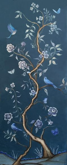 Chinoiserie | Hand-Painted | Wall Paper d.lind studio: