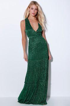 d9982ec0 Lulus | Falling Star Teal Green Sleeveless Maxi Dress | Size Medium | 100%  Polyester