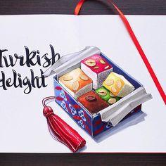 Turkish delight| Лукум 8/8 #lk_sketchflashmob @art_markers, #art_markers, #topcreator, #copic, #copicart, #copicmarker, #leuchtturm1917, #illustration, #sketch, #art, #иллюстрация, #sketchbook, #turkishdelight, #food