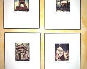 Paris!! Handtinted Image Transfers. Eiffel Tower, Paris Metro, Arc du Triomphe, Sacre Coeur.