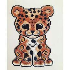 Animal leopard cross stitch.