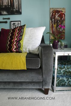 Vintage Sofa Update Reveal from Ariane Higgins