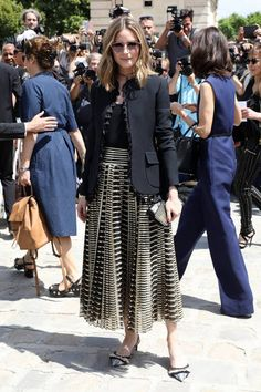 Olivia Palermo and Johannes Huebl are seen arriving at the 'Christian Dior' show during Paris Fashion Week Haute Couture Fall/Winter 20172018 on July...