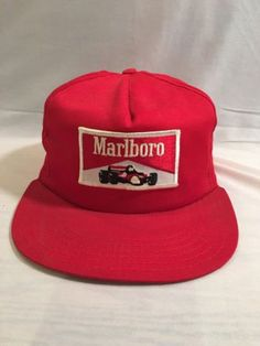 Marlboro Vintage 70 s Racing Team Snapback Trucker Hat USA Made NY New Old  Stock Snapback Hats 47763c50d040