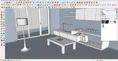 How to create the model of a lamp shed and a television: http://www.sketchup4architect.com/how-to-create-the-model-of-a-lamp-shed-and-a-television.html