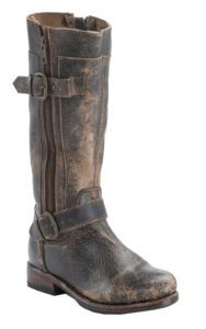 Bed|Stu Women's Teak Lux Gogo Round Toe Harness Fashion Riding Boot | Cavender's -- The craftsmanship on these looks wonderful.  Check out the soles!  When was the last time you saw a Goodyear welt?