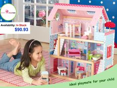 Toy's are always their favorite, and if you have a baby girl what better than this #dollhouse. We bet she will love this.  https://goo.gl/C7D7La